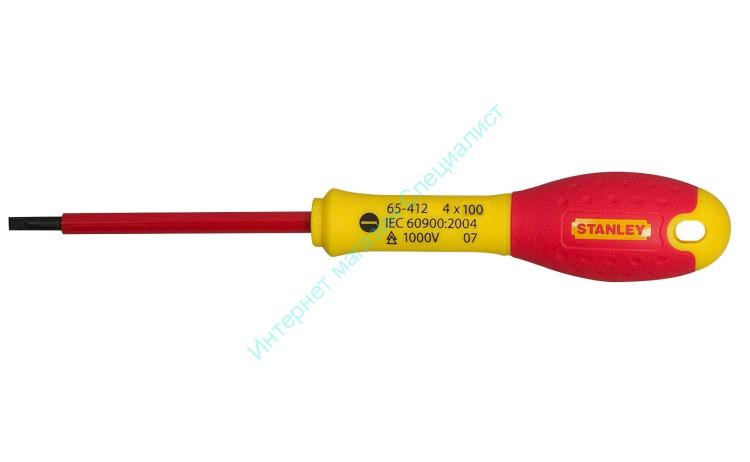 Отвертка STANLEY FATMAX 1000B прямой шлиц 4x100 0-65-412