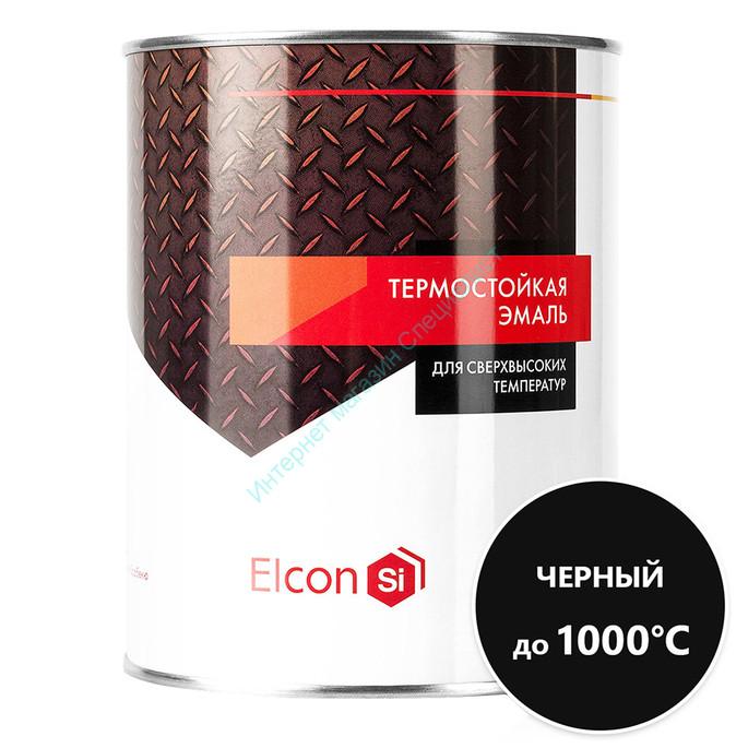 Эмаль термостойкая черная до +1000°C ELCON
