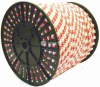 Канат полипропиленовый плетеный 10мм 8пр. б.серд.(100м)
