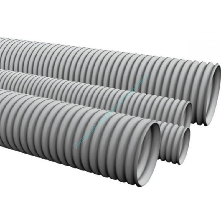 Гофротрубка D 16мм (серый) (100м)