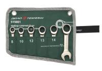 Набор ключей Дело Техники комбинированных трещоточных коротких 8-17 мм 6 шт. в тетроновой сумке 515661