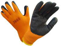 Перчатки акриловые утепленные 300# c гелевой заливкой (оранжевые)