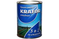 Грунт-эмаль по ржавчине алкидная 3 в 1 KRAFOR