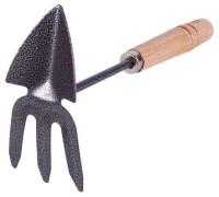 Рыхлитель-мотыжка 3-х зуб.комби (дерев.ручка) FT 401-E
