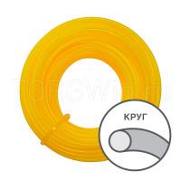 Леска для газонокосилки NEW желтый круг 4,0мм/10м