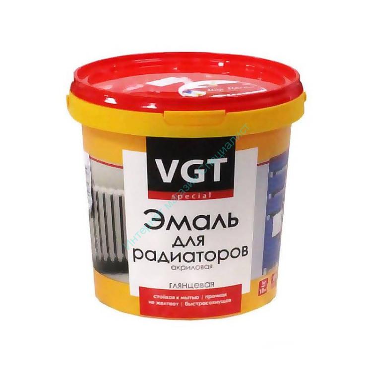 """Эмаль для радиаторов """"Профи"""" глянцевая супербелая 1,0 кг VGT"""