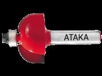 Фреза Атака 561350 кромочная калевочная 8х35(R12,7)х16мм