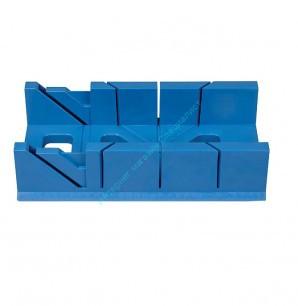 Стусло пластик. 300х110х60мм с линейкой (синий)