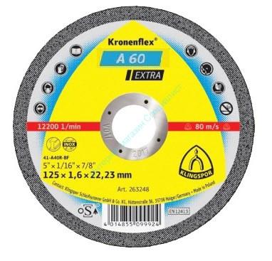 Диски Kronenflex EXTRA 125*1,6*22,23 /A60EX/