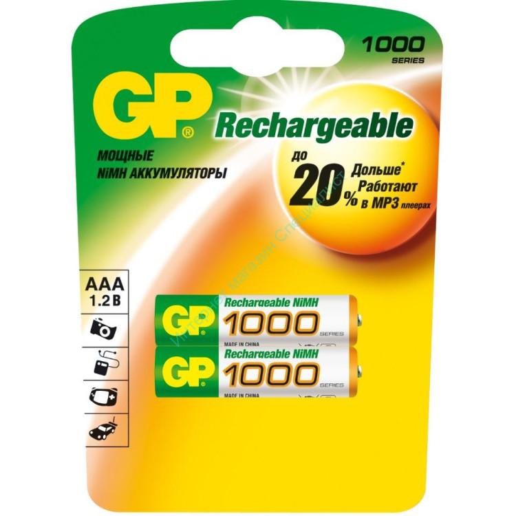 """Аккумулятор """"GP R03 Ni-Mh"""" (1000 mAh) (AAA)"""