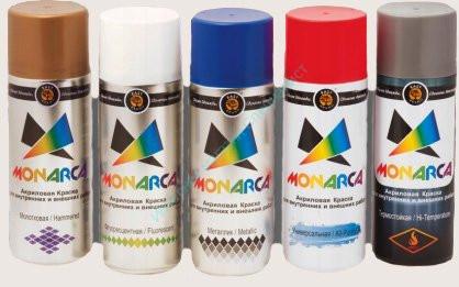 Краска аэрозольная MONARCA универсальная