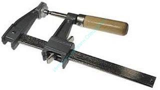 """Струбцина """"Практик"""" столярная с пружинным фиксатором, глубина 60 мм"""
