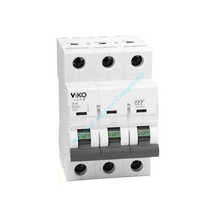 Авт. выкл. VIKO 3Р 16 А 4,5 кА х-ка С