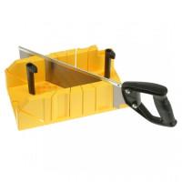 Стусло для плотницких работ пластмассовое 300х130х80 мм с ножовкой 350 мм STANLEY 1-20-600