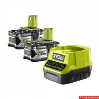 Набор RYOBI RC 18120-250 ONE+ (зарядное устройство + 2 аккумулятора)