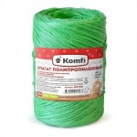 Шпагат полипропиленовый, цилиндр, 1,6*100м  зеленый 1000 текс Komfi