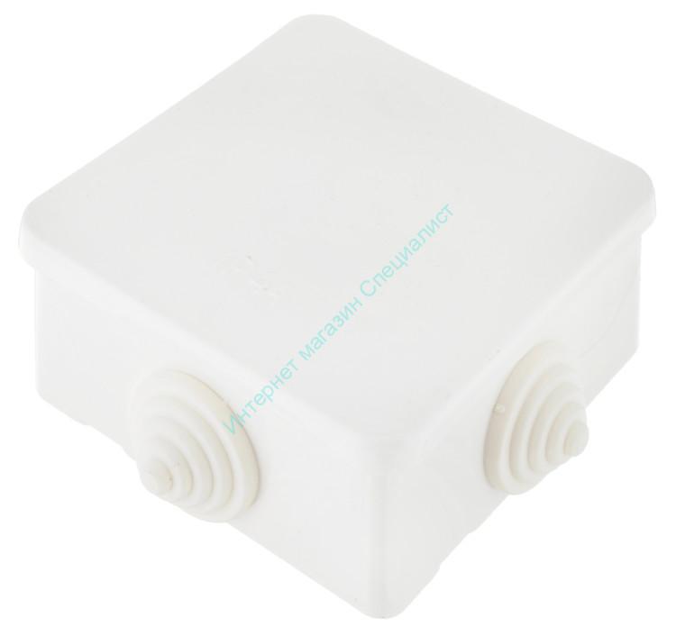 Коробка монтажная BYLECTRICA с клеммником (круглая) 87х87х43,5(55)