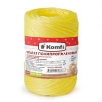Шпагат полипропиленовый, цилиндр, 1,6*100м  желтый 1000 текс Komfi