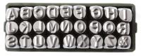 Набор клейм буквенных латиница 7 мм