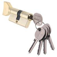 Личинка дверная (цилиндр) DAMX, ключ-вертушка, 5 английских ключей, 70мм 116-G