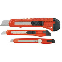 Набор ножей  VOREL с выдвижными лезвиями 9мм, 18мм (3шт)