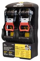 Ремни стяжные с храповым механизмом (4,87м*3,17см) 1089кг 2шт (980095I)