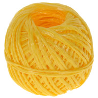 Шпагат полипропиленовый, клубок, 1,6*50м  желтый 1000 текс Komfi