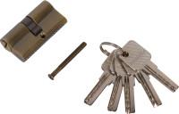 Личинка дверная (цилиндр) AL, ключ-ключ, 5 перфорированных ключей, 60мм