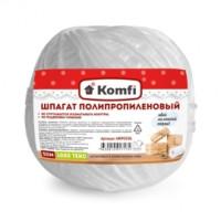 Шпагат полипропиленовый, клубок, 1,6*50м  белый 1000 текс Komfi