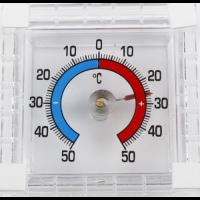 Термометр уличный квадратный стрелочный на липучке