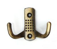 """Крючок-вешалка №11 2-х рож. (ст.бронза)  """"Нора-М"""""""