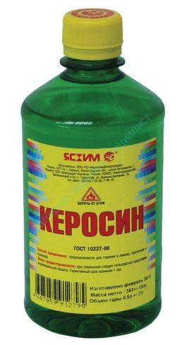 Керосин осветительный КО-25, ПЭТ 0,5 л. ЯСХИМ