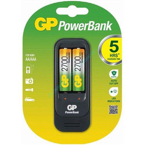 """Зарядное устройство """"GP PowerBank"""" GP PB560GS270-C2 (2XR6, R03) + Батарейка"""