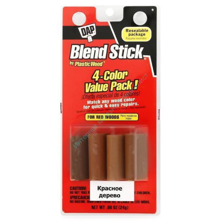 Карандаш для дерева 24 г. красное дерево (уп.по 4 цв.) Blend Stick, DAP