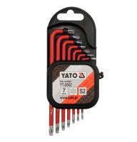 Набор ключей YATO TORX Т9-Т30 с отверстием 7 предметов YT-0562