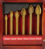 СТС-026 Набор сверел по стеклу и керамике 6шт 4 резца 10;12;16;19;22;25мм