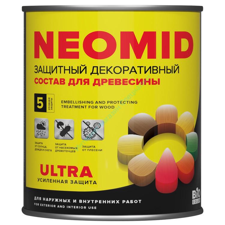 Защитный декоративный состав BiO COLOR Ultra д/древесины Рябина  0,9л, NEOMID